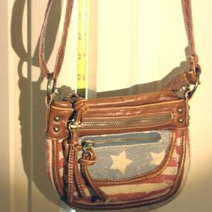 Small Crossbody Vintage Red White and Blue